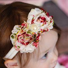Crianças da criança de flor pérola Headband clipes Hairband faixa de cabelo acessórios de SH05(China (Mainland))