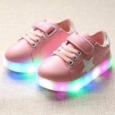 Girls shoes kids fashion leisure comfortable autumn bright basket Led boys 7 colour glowing sneakers children shoes with light 5