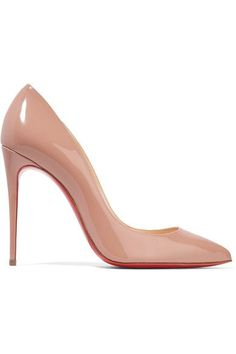 CHRISTIAN LOUBOUTIN Pigalle Follies 100 patent-leather pumps | net-a-porter.com