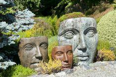 le visage en sculpture | Face Sculpture Planters Are Still Trendy And Darling ...