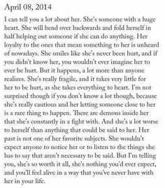 Dang this is 100% me, besides the emotional fragileness, I do not let things get me easily. -E