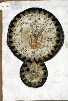 Geomancy Cogwheel. Oxford, Bodleian Library, Digby MS 46 (15th century)