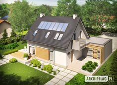Tobiasz II G2 MULTI-COMFORT Cute House, Construction, Home Fashion, Planer, Bungalow, House Plans, Pergola, Shed, Loft