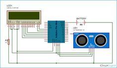 Arduino Distance Measurement Circuit Diagram Arduino Circuit Diagram Arduino Projects