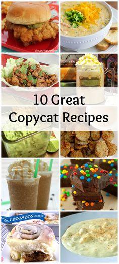 10 Great Copycat Recipes