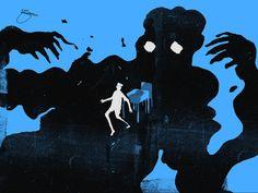 As surreais, sombrias e minimalistas ilustrações de Daniel Zender
