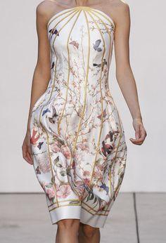 Thakoon Spring 2013  una jaula en un vestido...