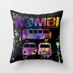 Volkswagen, Throw Pillows, Cool Stuff, Cushions, Decorative Pillows, Decor Pillows, Scatter Cushions