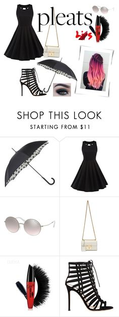 """""""pleats!"""" by mdyaya ❤ liked on Polyvore featuring Fulton, Michael Kors, Gucci, Gianvito Rossi and Too Faced Cosmetics"""