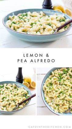 This Lemon and Pea Alfredo is an Italian summer pasta dream come true! Bright, fresh, nutty, creamy, and tangy, it's flavor-forward in the best possible way.