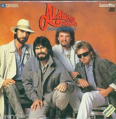 "This is Alabama ""Greatest Video Hits"" Pioneer Artists music laserdisc. The 1980's have witnessed an Alabama explosion. This band from Ft. Payne, Alabama--Randy Owen, Teddy Gentry, Jeff Cook and Mark H"