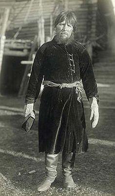 Русский крестьянин в плисовом кафтане.