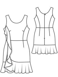 Сукня міні відрізна приталеного крою: купити викрійки, пошиття і моделі | Burdastyle