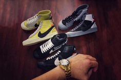 1ee61ee89388 Three New OFF-WHITE x Nike Blazer Studio Mid Colorways Will Drop This Year  As