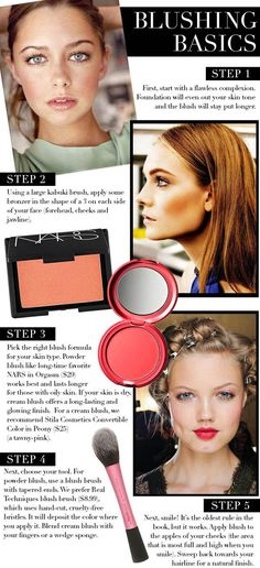 Beauty Basics: How To Apply Blush For A Natural Glow | Perfect Everyday Makeup Look This Winter by Makeup Tutorials at http://makeuptutorials.com/how-to-apply-blush/
