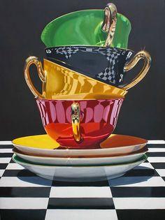 Contemporary art painting still life 28 ideas Painting Still Life, Still Life Art, Realistic Paintings, Amazing Art, Photo Art, Tea Party, Contemporary Art, Tea Cups, Illustration Art