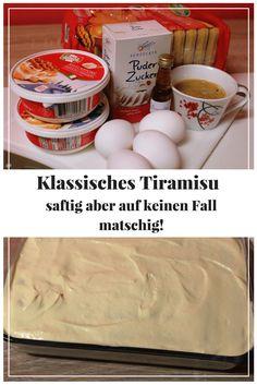 Ich liebe Tiramisu. Leider ist es oft Matschig und daher für mich ungenießbar. Ich verrate euch meinen Trick, wie ihr das umgeht und das Tiramisu saftig, aber nicht matschig wird.