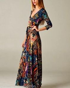 CHELSEA-VERDES-SHIFTING-SEASONS-Streets-of-Paris-Maxi-Dress-Boho-Wrap-S