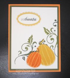 Card designed by Tracy Elsom using the Fall Fest stamp set and matching Fun Fall Framelits Dies from the Stampin' Up! 2014 Holiday Catalogue.  http://tracyelsom.stampinup.net