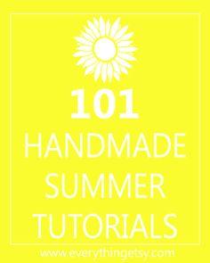 DIY Crafts - 101 Handmade Summer Tutorials #diy #crafts