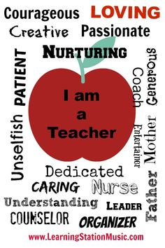I am a Teacher - Inspirational quote for teachers. Join us for more inspiring quotes at: https://www.facebook.com/LearningStationMusic #quotes #inspirational #teachers