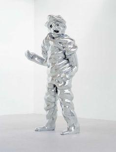 Thomas Schütte Grosse Geister [Big Ghosts] 1996 Three cast aluminium figures Figure 1: 244 x 152 x 102 cm, Figure 2: 241 x 117 x 112 cm, Figure 3: 241 x 117 x 91 cm