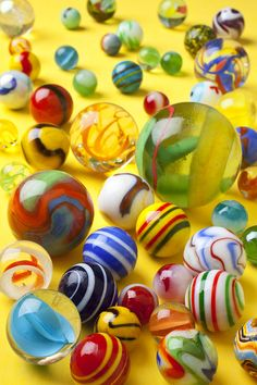 Colorful marbles Photograph by Garry Gay
