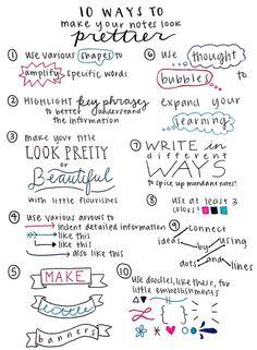 pretty notes!