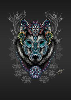 Tribal Tattoos, Wolf Tattoos, Animal Drawings, Art Drawings, Art Chicano, Wolf Artwork, Graffiti Wall Art, Japon Illustration, Aztec Art