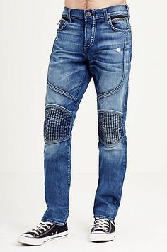 GENO SLIM MOTO BIG T MENS JEAN - True Religion