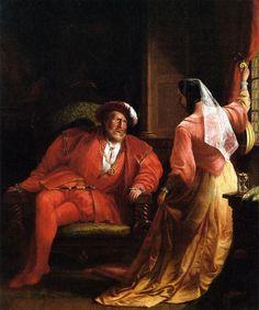 -Henry VIII and Anne Boleyn by William Rimmer
