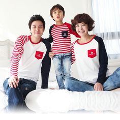 Long Sleeve T-Shirts Family Clothing $23.56 Free Clothes, Clothes For Sale, Mother Father And Baby, Winter T Shirts, Mother Daughter Outfits, Matching Family Outfits, Matching Clothes, Clothing Deals, Matches Fashion
