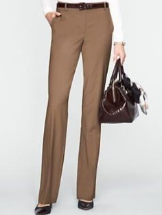 Talbots - Heritage Seasonless Wool Straight-Leg Pants - Taupe