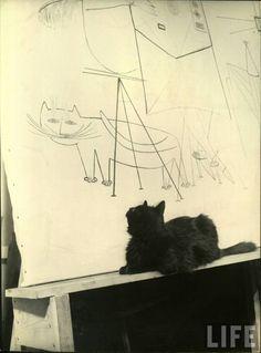 Gjon Mill, Saul Steinberg, 1947.