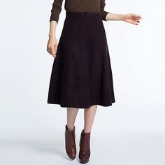 WOMEN FELTED LONG SKIRT | UNIQLO