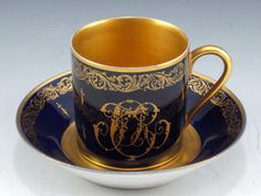 demitasse with monograms Tuors France