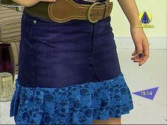 Santa Receita | Transforme sua calça jeans em uma saia com babados! - 12...