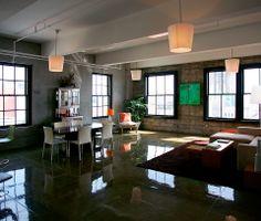 Loft moderno. Decoração de loft. Ideias para decoração em estilo industrial. Loft moderno com estilo industrial.