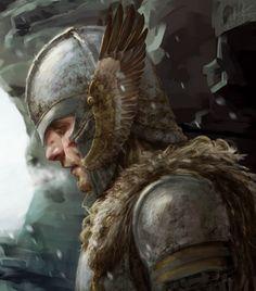 Bragi, Norse god of wisdom and poetry (Eagle Knight) Fantasy Male, High Fantasy, Fantasy Warrior, Fantasy Rpg, Medieval Fantasy, Fantasy World, Fantasy Portraits, Character Portraits, Fantasy Artwork