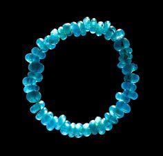 Blue glass beads bracelet. c. 3200–600 BC. excavated in Kongehøj, Denmark