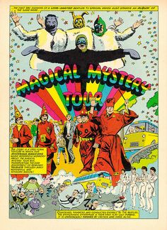 Magical Mystery Tour comic illustration (The Beatles)
