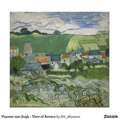 Van Gogh - View of Auvers - Canvas Wall Art Framed Print- Various Sizes Framed Artwork, Wall Art, Canvas Artwork, Van Gogh Museum, Dutch Painters, Canvas Prints, Art Prints, Japanese Prints, Vincent Van Gogh