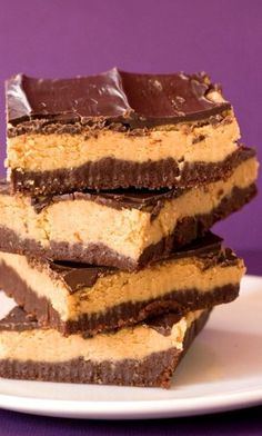 I like this  Peanut Butter Brownie Truffle Bars – a no-bake recipe that may knock your soc...