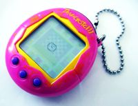 Tamagotchi! Or cyber pets as we called them... they got banned from school haha!