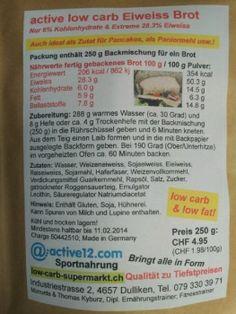 Ernährungs-Tipp: Mit neuer Etikette worauf auch die Nährwerte der Backmischung trocken ersichtlich sind. Schon gewusst? - Die Backmischung eignet sich auch bestens um Fleisch und Fisch low carb zu panieren...