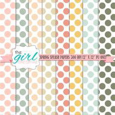 Free polka dot backgrounds  - Great for blog design backgrounds and scrapbooking. Print or use online. Free for personal use.
