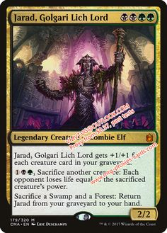 Jarad, Golgari Lich Lord.xlhq Commander Anthology Magic the Gathering Proxy mtg proxies cards all available from $0.37 visit www.mtg-proxies-cards.com email vmvtvg@outlook.com