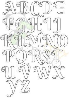Fancy Fonts Alphabet, Bubble Letter Fonts, Alphabet Templates, Fancy Letters, Doodle Lettering, Creative Lettering, Lettering Styles, Lettering Tutorial, Bullet Journal Banner