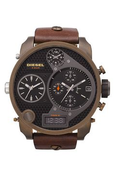 Diesel Time Zone Watch. Part aviator, part steampunk. Completely cool.