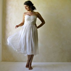 Light and airy beach wedding dress Etsy listing at https://www.etsy.com/listing/189510405/bridal-gown-strapless-wedding-dress